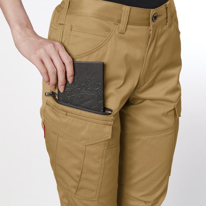 長財布・レベルブック収納 ポケット(右・深さ23cm)
