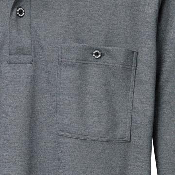 胸ポケット(左・ボタン止め)