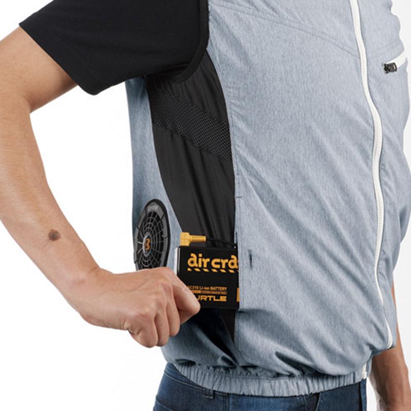 バッテリー収納ポケット (右・ボタン止め) ※特許取得済