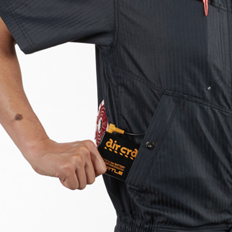 バッテリー収納ポケット ( 右・ドットボタン止め) ※特許取得済