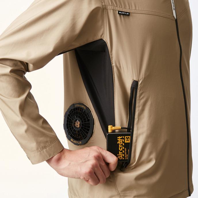 バッテリー収納ポケット (右・ファスナー止め) ※特許取得済