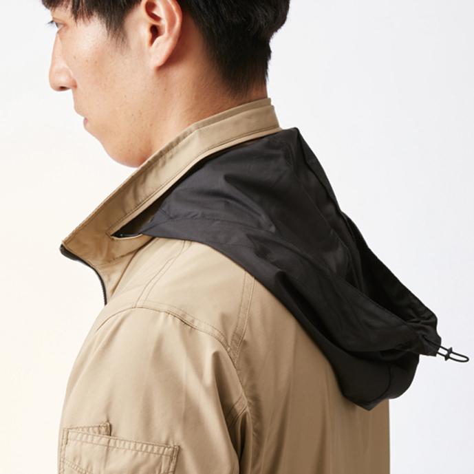 収納式フード (スピンドル付き) (全色ブラック)