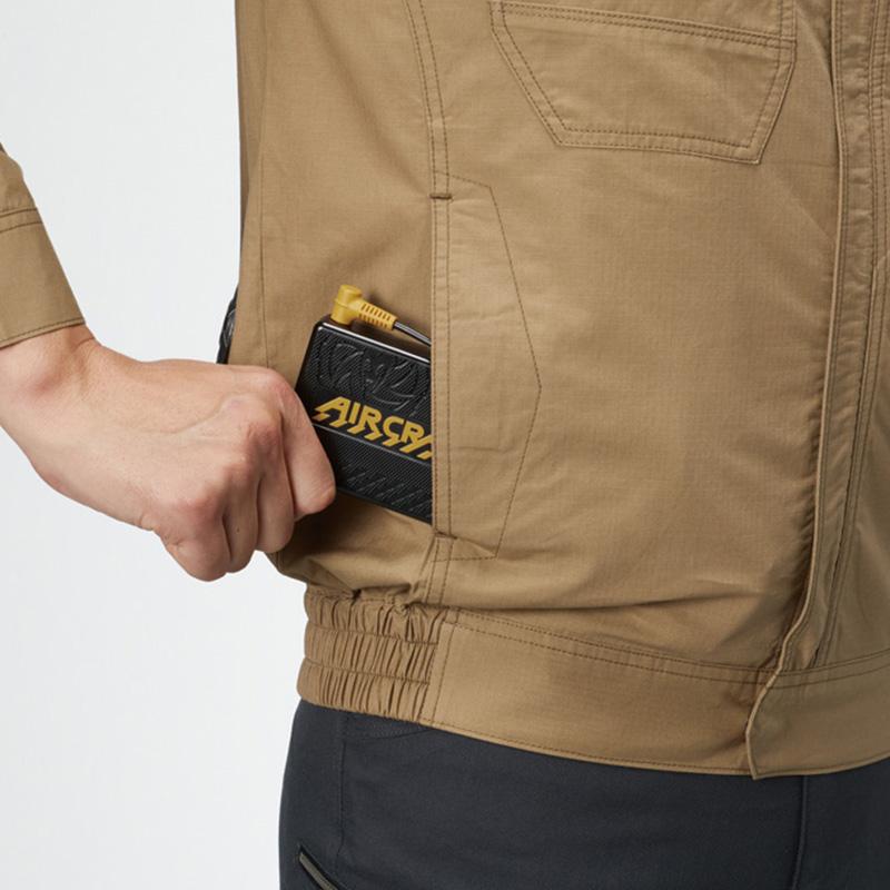 バッテリー収納ポケット (右・マジックテープ止め) ※特許取得済