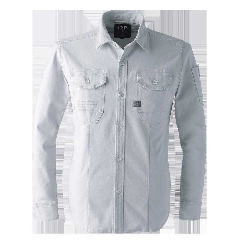 ストレッチツイル3Dワークシャツ#7901
