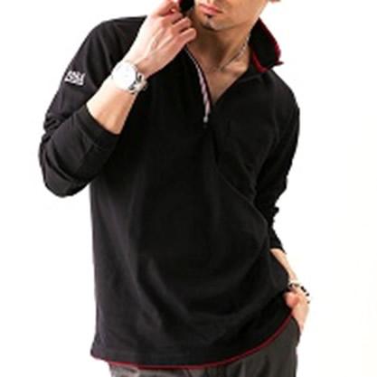 長袖ジップアップシャツ 5760—623