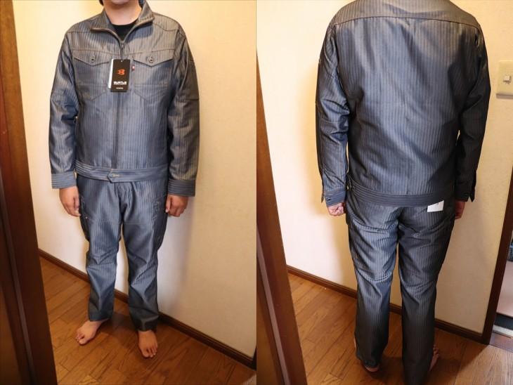 着用写真です。着用サイズはLLです。