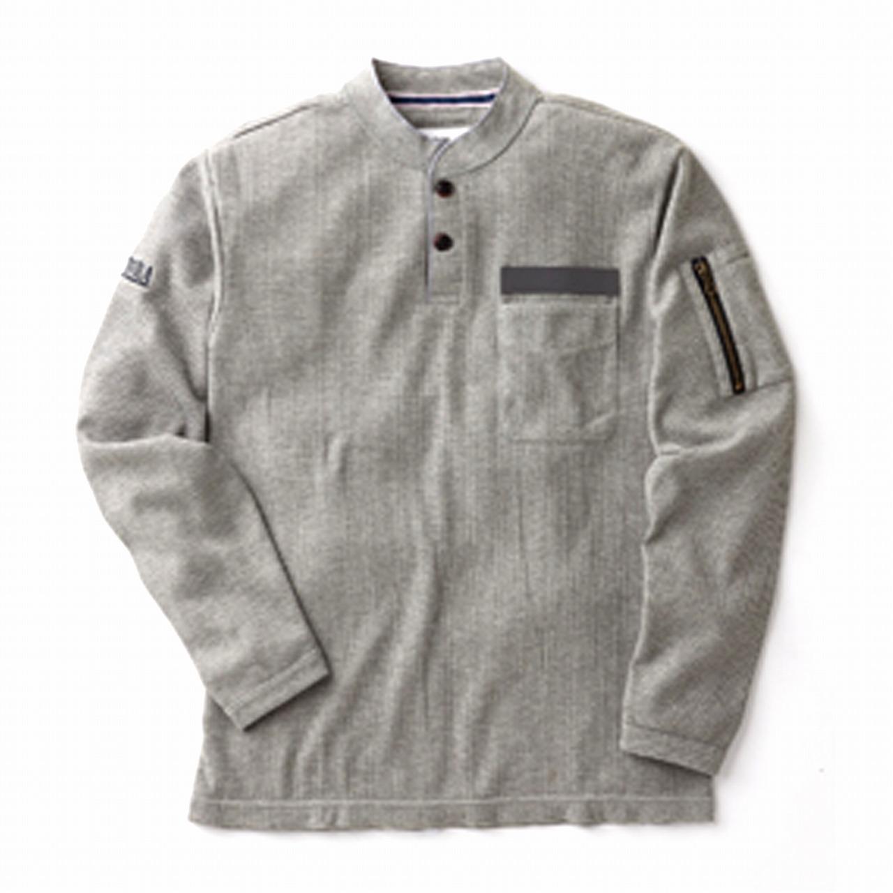 長袖Tヘンリーネックシャツ 5761-635