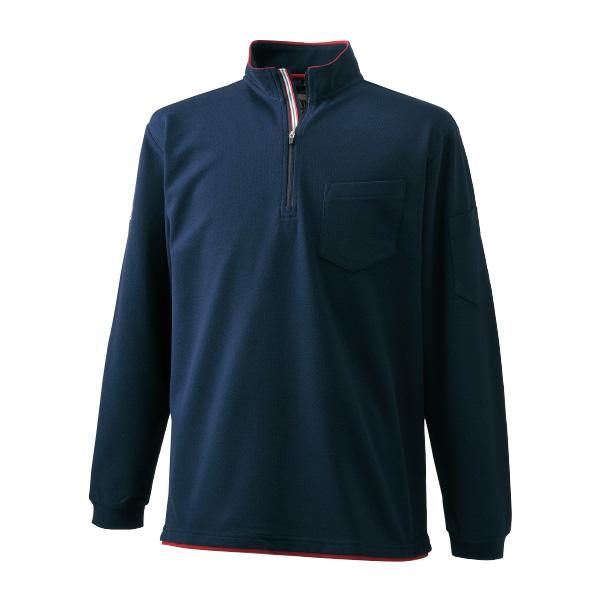 長袖ジップアップシャツ 5760-623