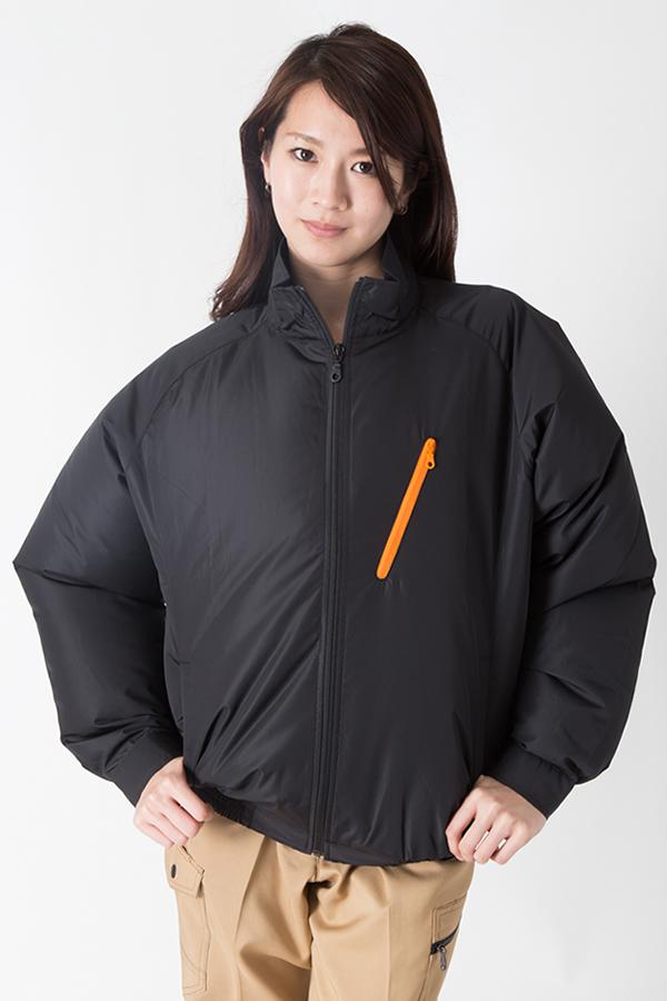 【サンエス】【春夏作業服】空調服 スタッフ空調ブルゾン KU90510     モデル画像1