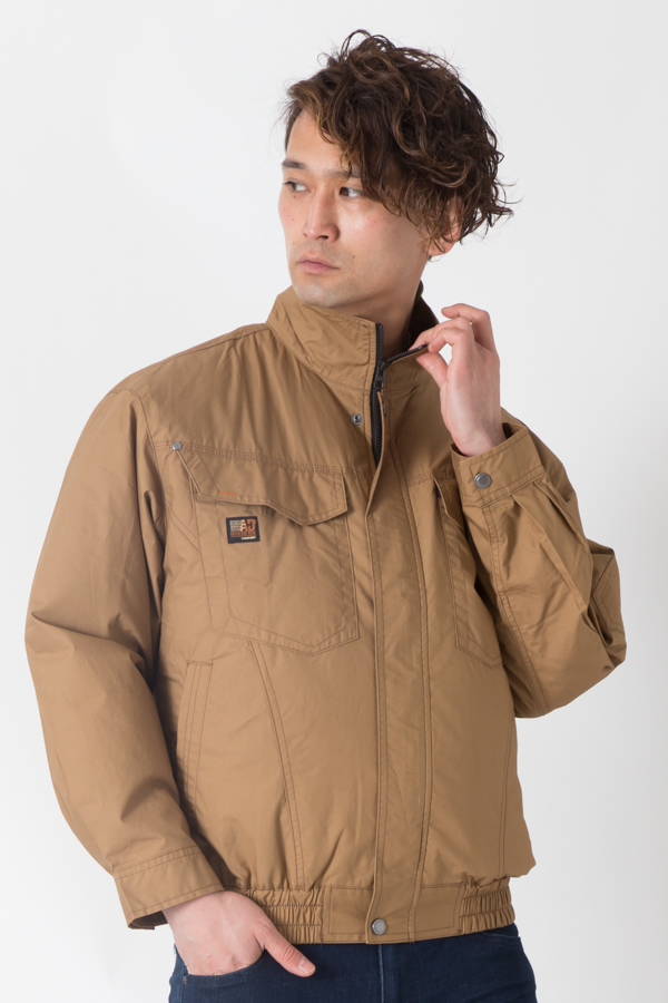 【サンエス】【春夏作業服】空調服 綿100%空調ブルゾン KU91400        モデル画像1