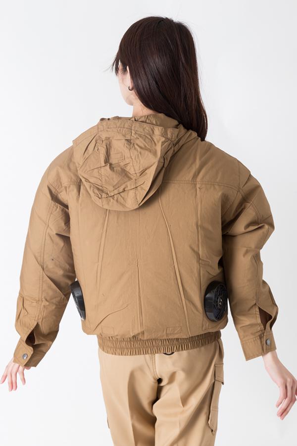 【サンエス】【春夏作業服】空調服 フード付き綿100%空調ブルゾン KU91410          モデル画像2