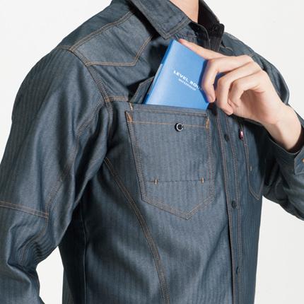 レベルブック収納ポケット(右:深さ21�p)