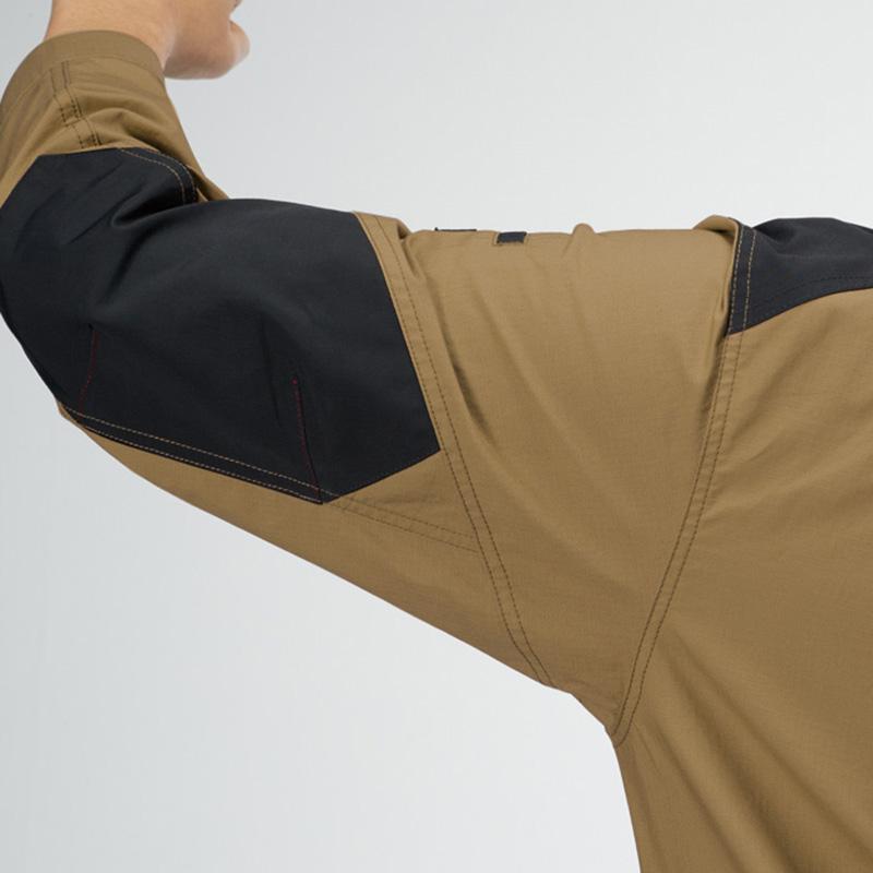 肩コーデュラ補強布使用、袖アームタック