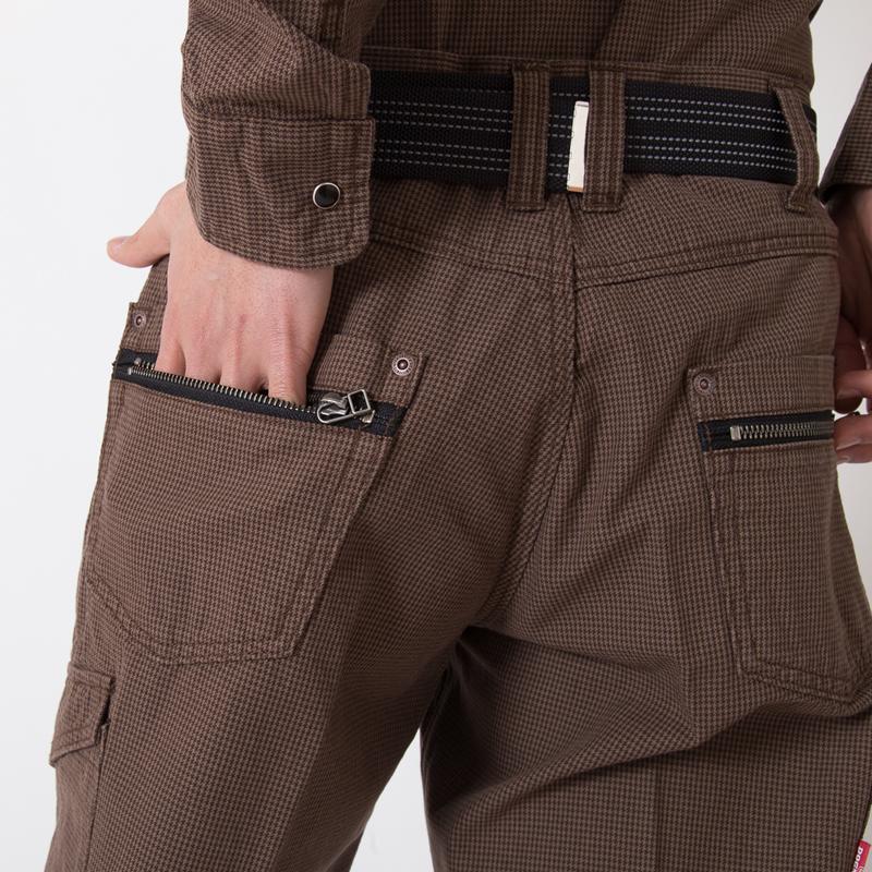 左バックファスナーポケット