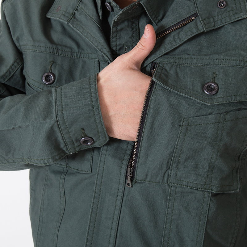 左胸 サイドポケット