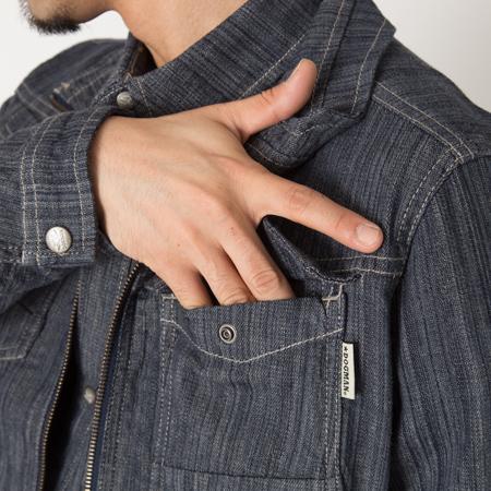左胸フロントポケット