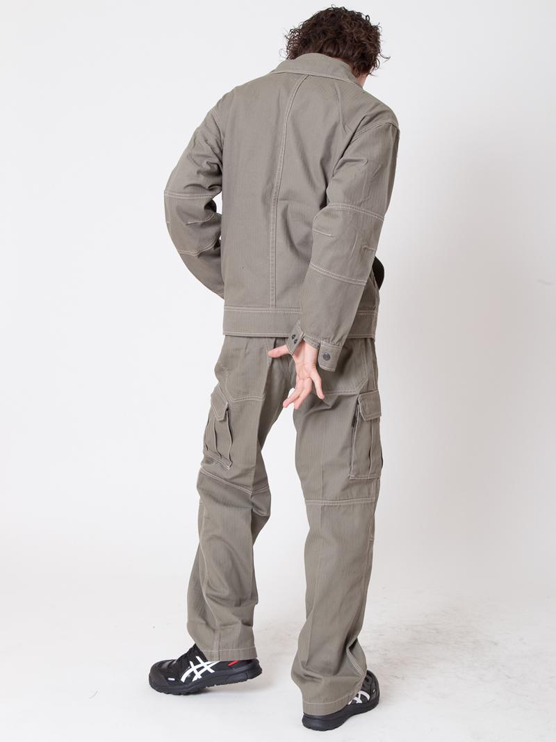 【イーブンリバー】【秋冬・年中作業服】へリンボンブルゾン US-207