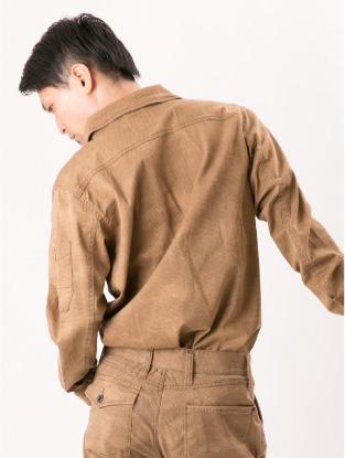 7251【年中作業服】プリントワークシャツ【アイズフロンティア】着用イメージ2