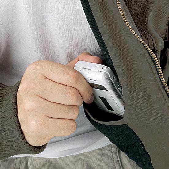 内ポケット(携帯電話ポケット付き)  )