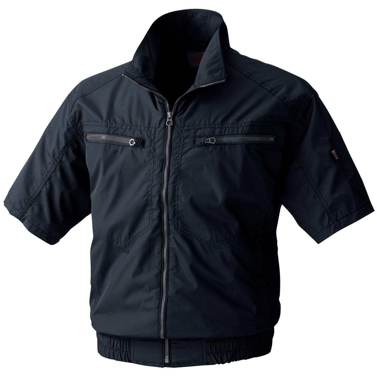 【村上被服(空調服)】【春夏作業服】空調半袖立ち襟ブルゾンV8306