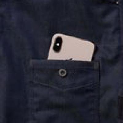 左飾りロット付き携帯ポケット