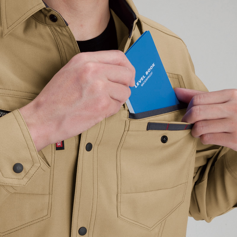 野帳ダブル収納ポケット(左・深さ19�p)