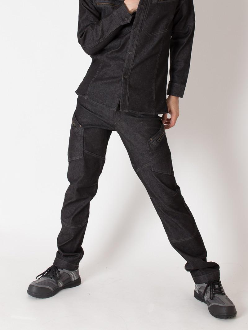 【TSデザイン】【秋冬作業服】メンズカーゴパンツ 5114  モデル画像1