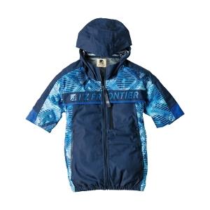 デニムライクA.S半袖フーディットジャケット#10075