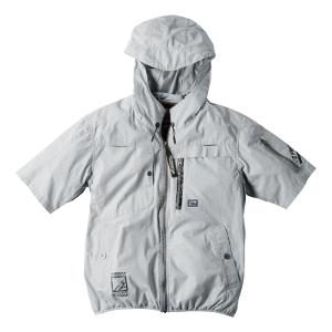 超消臭綿100%A.S半袖フーディッドジャケット#10085