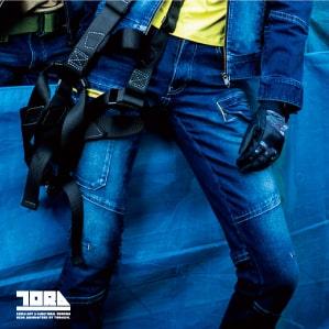【TORAICHI(寅壱)秋冬年中作業服】デニムカーゴパンツ 8940-219