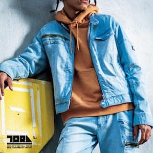 【TORAICHI(寅壱)】【春夏作業服】デニムライダースジャケット 8970-554